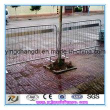 Barrières routières portatives / barrières de circulation en acier / barrière de contrôle de foule en métal