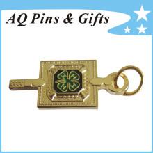 Badge métallique en or au meilleur sablage avec goupille de sécurité (badge-206)