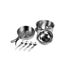 Utensilios de cocina de picnic de camping de acero inoxidable 4pcs