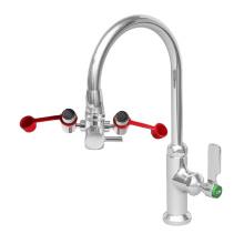 Dual purpose deck mount lab eyewash stations; Faucet Mounted Personal Eyewash Station