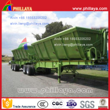 Tandem Type Hydraulic Side Tipping Semi Trailer