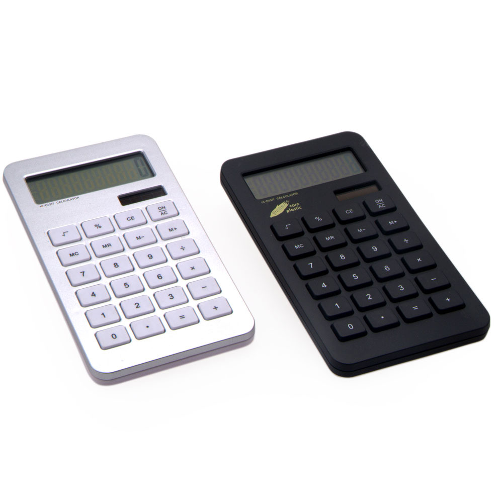 Office using 10 digit dual power calculator