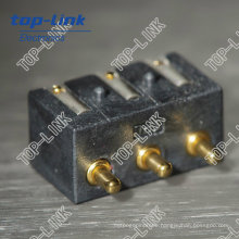 OEM Brass Spring Loaded Pogo Pin Connector (3 contacts, factory)