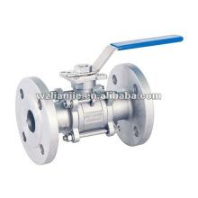 CF8 3PC inox eau robinet à bille avec tampon de montage Direct ISO 5211