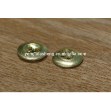 Round gold 18mm 4holes old brass metal button metal snap buttons for jean,coat