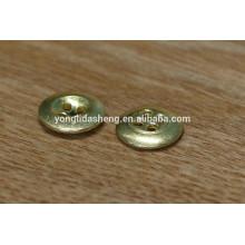 Ouro redondo 18mm 4holes botão de metal de latão velho botões de pressão de metal para jean, casaco