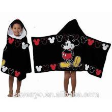Benutzerdefinierte Micky 100% Baumwolle Kind mit Kapuze Baby Handtücher HDT-004 China-Lieferanten