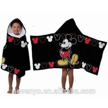 Personalizado Micky 100% algodón Kid bebé con capucha toallas HDT-004 China Proveedor