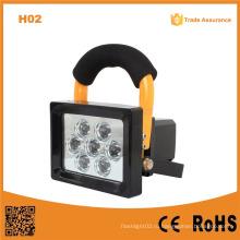H02 10W перезаряжаемые супер яркий светодиодный портативный свет работы