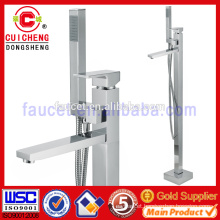 chrome plated brass freestanding bathtubs shower faucet,hot and cold shower valves european style