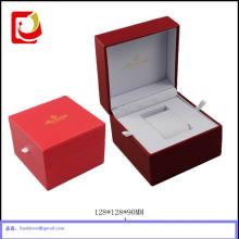 Embalagem de caixa de pacote de relógio de couro de luxo para relógio