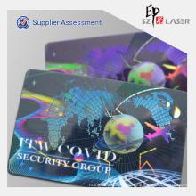 Superposición 3D tarjetas holográficas personalizadas con impresión de la insignia del holograma