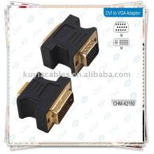 Adaptador DVI a VGA Adaptador de adaptador de monitor hembra