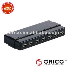 ORICO H7928-U2 7 port USB2.0 haute vitesse HUB, avec alimentation DC In Power Supply