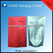 Os sacos de empacotamento transparentes laterais de uma folha de alumínio para o chá / levantam-se o malote de empacotamento do chá da folha com Ziplock