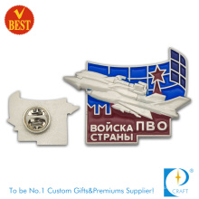 China Reliable Custom Metal Baking Finish Airline 2D Pin Badge at Factory Price