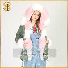 Veste à manches courtes personnalisées à nouveau style Fox Faux Fur Parka