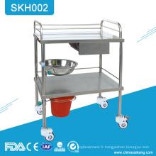 SKH002 Chariot de travail multifonctionnel médical bon marché