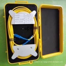 Caixa de lançamento OTDR de fibra óptica de modo único