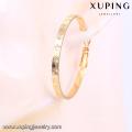 91905- Xuping Jóias Moda Banhados a Ouro 18K Big Rodada Hoop Earrings