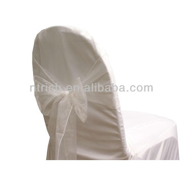 white, fancy vogue crystal organza chair sash tie back,bow tie,knot,wedding chair sashes and table cloth