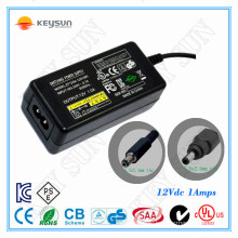 12W 12V 1A Power Adapter with CE UL SAA GS CB CUL PSE KC FCC Certification