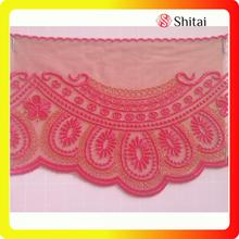 Reliable for Net Lace Trimming,Embroidered Tulle Fabric,Net Lace Fabric Manufacturer in China embroidered net lace trimming with mesh supply to India Exporter