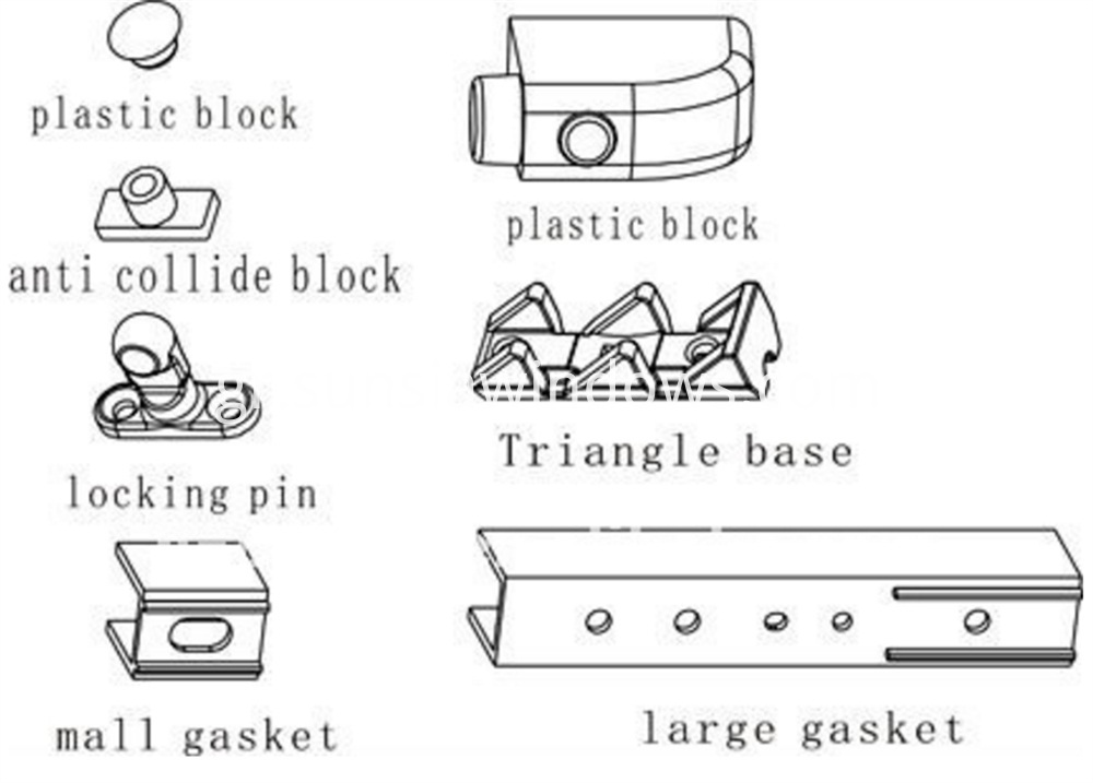 Accessory Bag for Lift and Slide Door System Fittings