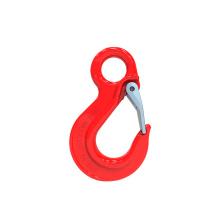 G80 eye safety hook eye type hook/heavy crane hook/crane chain hook