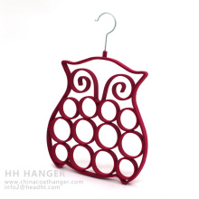 Wholesale Flocked Hanger, Hot Sale Plastic Hanger, Velvet Tie Hanger