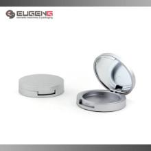 Caixa compacta compacta prateada com espelho