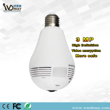 Kamera IP Bulb 360 Wawasan Panoramic Wifi Panoramic