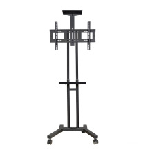 "Metal TV Stand / Trolley Sav 106 Wheelbase Telescopic Tube 30-60"" (SAV 106A2)"