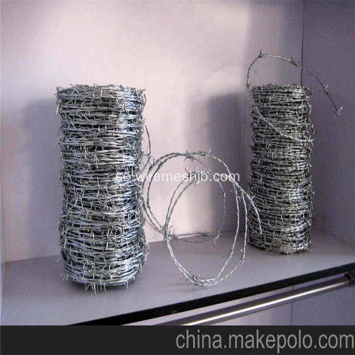 12 * 12 Double Twist Barbed Wire För Staket