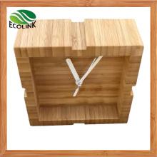Small Desk Clock Bamboo Clock