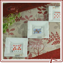 Juego de cartas de diseño de cenicero de cerámica