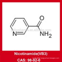 Nicotinamide(VB3) powder/CAS 98-92-0/ USP36/BP2012/GMP/DMF/Halal