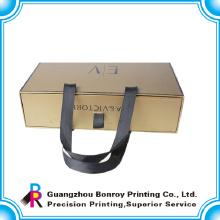 Caja de cajones de embalaje de cartón de alta calidad con mango