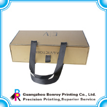 High quality cardboard packaging drawer box with handle