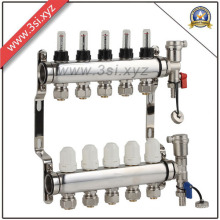 5 Ways Floor Heating Water Separator with Gauge (YZF-L081)
