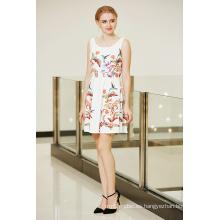 El último vestido de moda del puente del patinador de la impresión de la colocación floral simétrica de moda