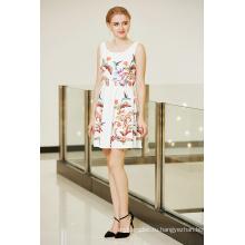 Последний Модный Симметричный Цветочный Принт Качели Конькобежец Платье Ponte
