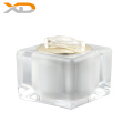 Factory stock 50g pearl white square wholesale acrylic cream jar luxury cosmetic personal care jar container