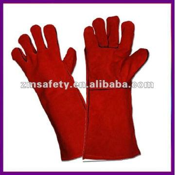 """Gants de soudeur en cuir de sécurité rouge 14 """"ZMR101"""