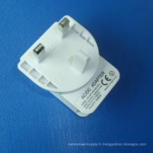 Chargeur USB blanc pour adaptateur secteur AC / DC 5V 2A