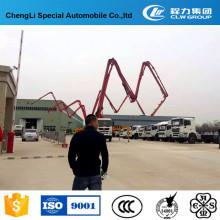 Camión de bombeo que transporta concreto de la fábrica de China