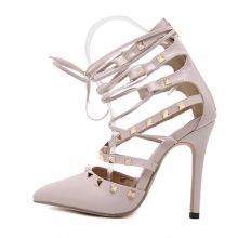 Classic fashion shoes rivets high shoes hollow summer sandals