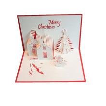 papier à la main fait main pop-up 3d carte de voeux de Noël personnalisé