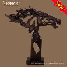 tema animal tema arte moderna estátua cabeça de cavalo para decoração de casa