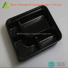 plástico descartável do recipiente de alimento da microonda